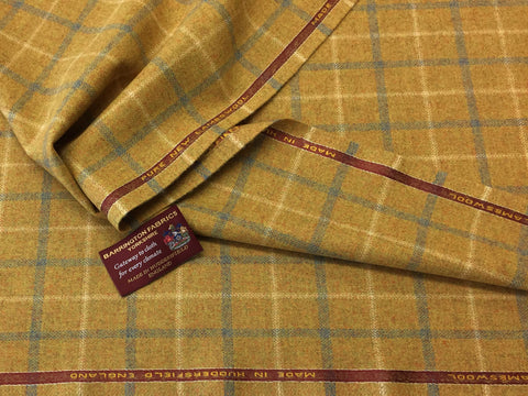 Golden Sandy / Mustardy Check 100% Pure New Lambswool Jacketing