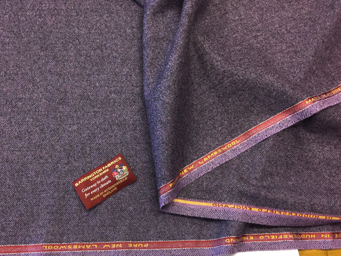 Purple Herringbone Design 100% Pure New Lambswool Jacketing