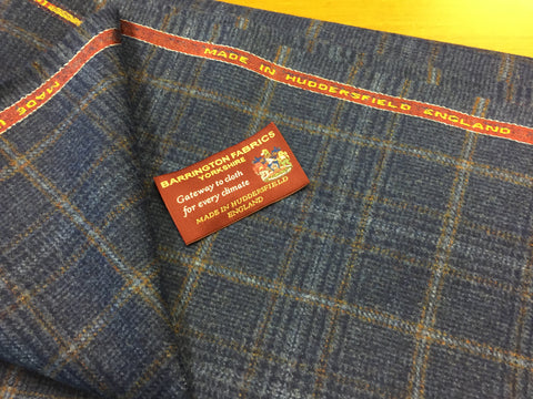 Blue check design 100% Pure New Lambswool Jacketing