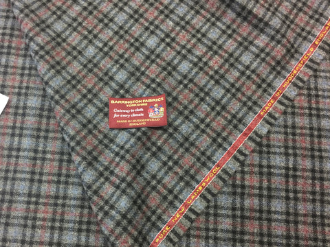 Grey Check 100% Pure New Lambswool Jacketing