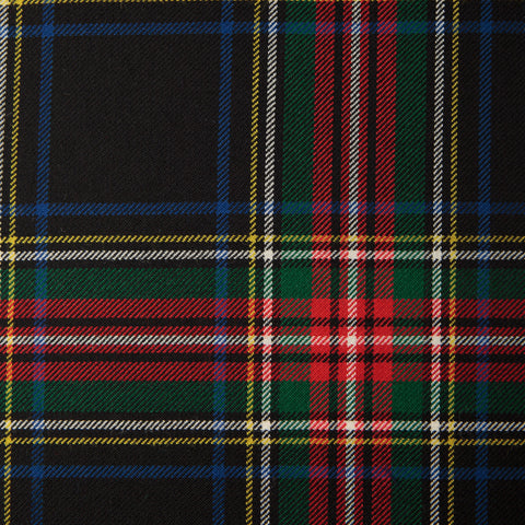 Stewart Black (B) Alba Tartan Check 100% Wool