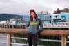 Maroon Beanie on the Juneau Cruise docks
