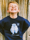 Kids Polar Bear Pun, Stay Cool Sweatshirt