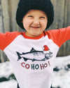 Co Ho Ho Christmas Coho Salmon Kids T-shirt