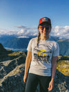 Alaska Bald Eagle Sunset T-Shirt with views from Mt Jumbo