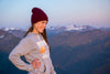 Maroon hiking girl beanie