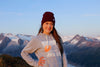 Juneau mountains skyline sunset hoodie
