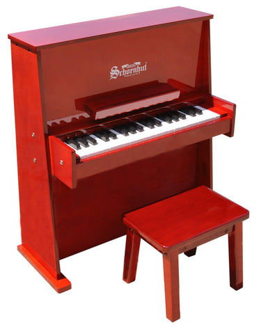 Schoenhut 37 Key Day Care Durable Upright Piano - Mahogany 3798M