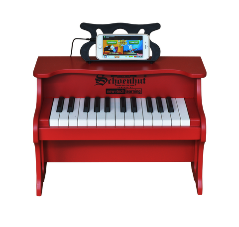Schoenhut 2517R 25 Key Digital Table Top Piano Red