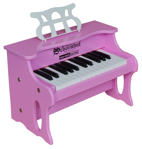 Schoenhut 2517P 25 Key Digital Table Top Piano Pink