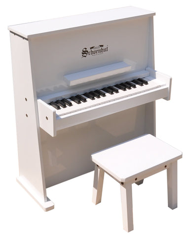 Schoenhut 37 Key Day Care Durable Upright Piano - White 3798W