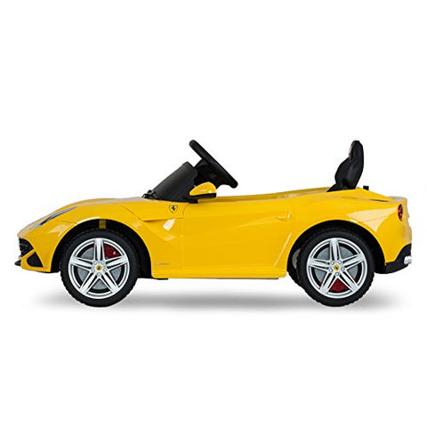 Vroom Rider VR81900-YEL Ferrari F12 Rastar 12V - Battery Operated/Remote Controlled (Yellow)