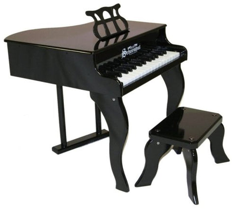 Schoenhut 30 Key Fancy Baby Grand Piano - Black 3005B - Peazz Toys