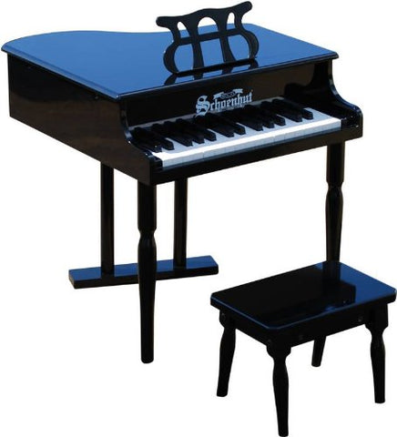 Schoenhut 30 Key Classic Baby Grand Piano - Black 309B - Peazz Toys