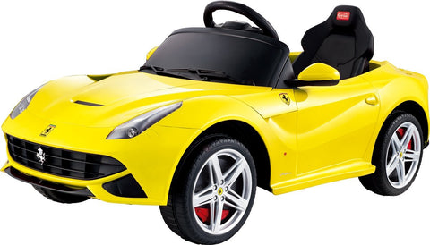 Vroom Rider VR81900-YEL Ferrari F12 Rastar 12V - Battery Operated/Remote Controlled (Yellow) - Peazz.com