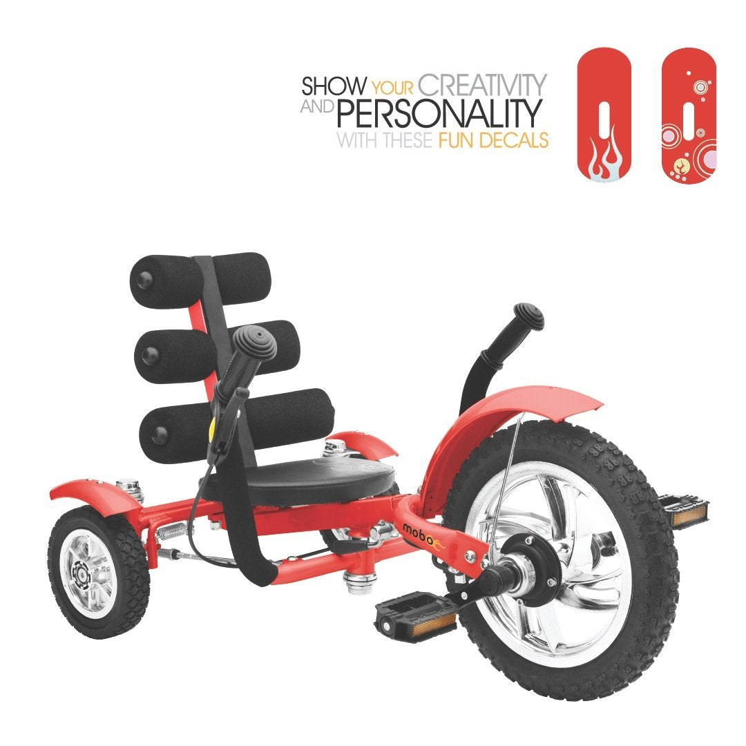 "Mobo Mini Tri-601r The Smallest Luxury Cruiser 12"" - Red"