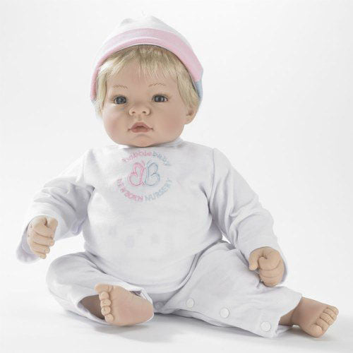 Madame Alexander Babble Baby, Blonde Hair, Blue Eye Munchkin Doll