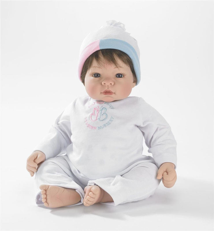 Madame Alexander Babble Baby, Brown Hair, Blue Eye Munchkin Doll