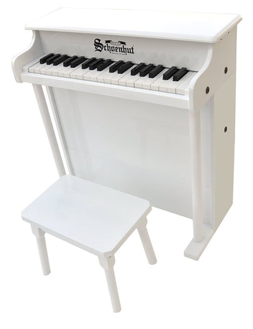 Schoenhut 37 Key Traditional Deluxe Spinet Upright Piano 6637W - Peazz Toys