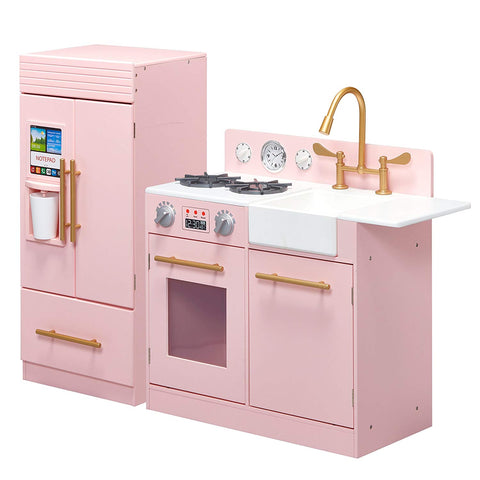 Teamson TD-12302P Teamson Kids - Little Chef Chelsea Modern Play Kitchen - Pink