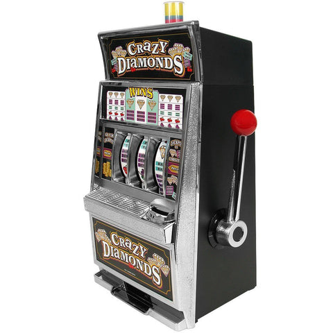 Crazy Diamonds Slot Machine Bank - Authentic Replication - Peazz.com