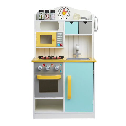 Teamson TD-11708AR Teamson Kids - Little Chef Florence Classic Play Kitchen - White / Green & Yellow