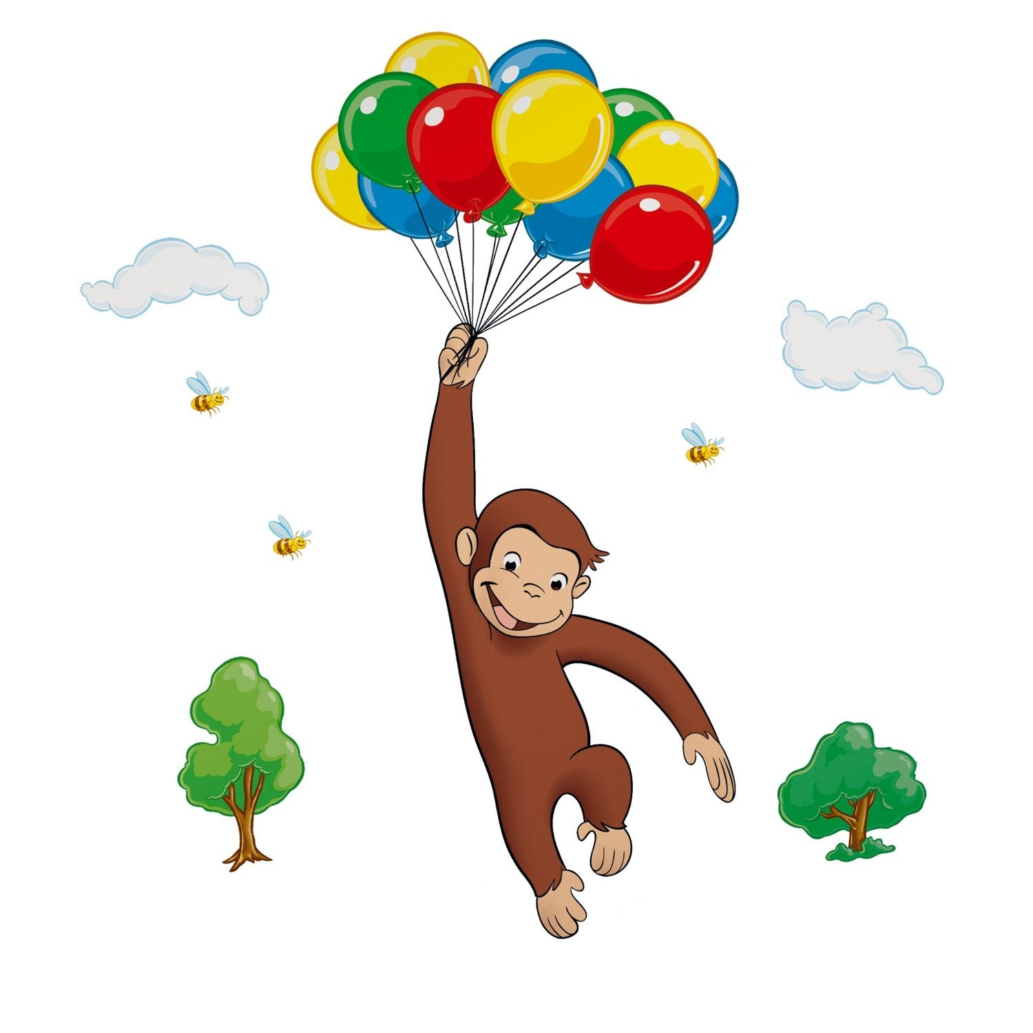 Curious George Peel & Stick Giant Wall Decal (RMK1082GM)