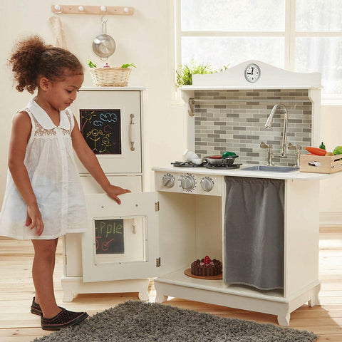 Teamson TD-12273A Teamson Kids - Little Chef Provence Retro Play Kitchen - White