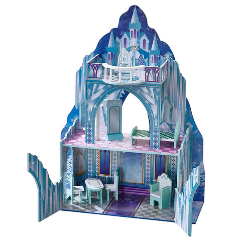 "Teamson TD-11800A Teamson Kids - Dreamland Ice mansion 12"" Doll House - Aqua blue / Pink"