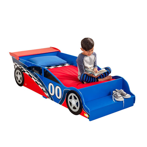 KidKraft 76040 Racecar Toddler Bed - Peazz.com