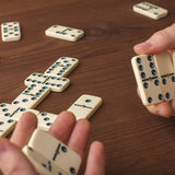 12-2408 Premium Set Of 28 Double Six Dominoes W/ Wood Case