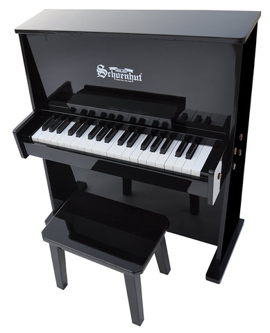Schoenhut 37 Key Day Care Durable Upright Piano - Black 3798B - Peazz Toys