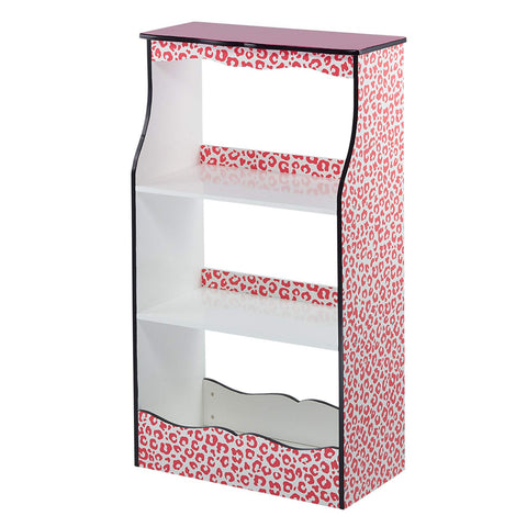 Teamson TD-12472P Teamson Kids - Fashion Leopard Prints Karlie Bookshelf - Pink / Black