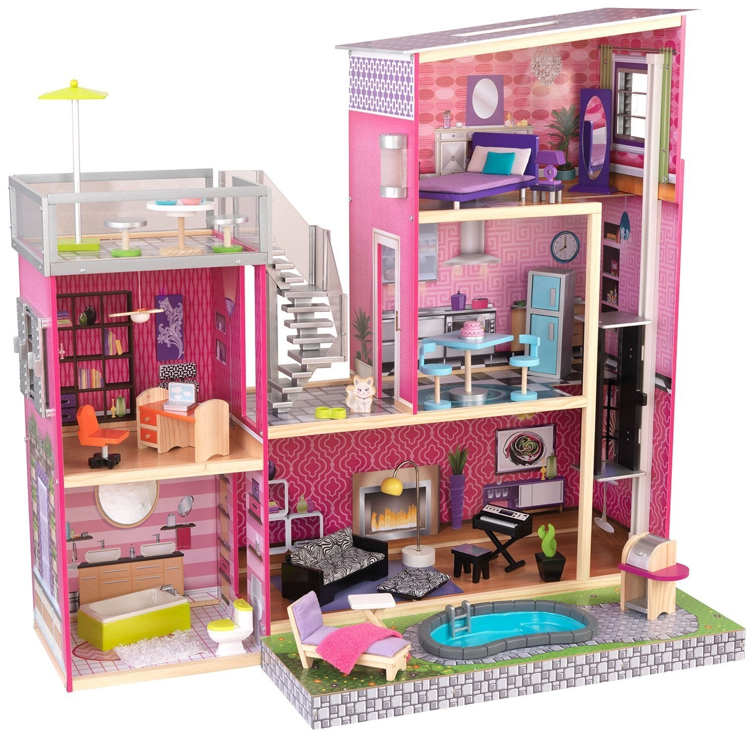 KidKraft 65833 Uptown Dollhouse with Furniture