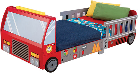 KidKraft 76021 Fire Truck Toddler Bed - Peazz.com