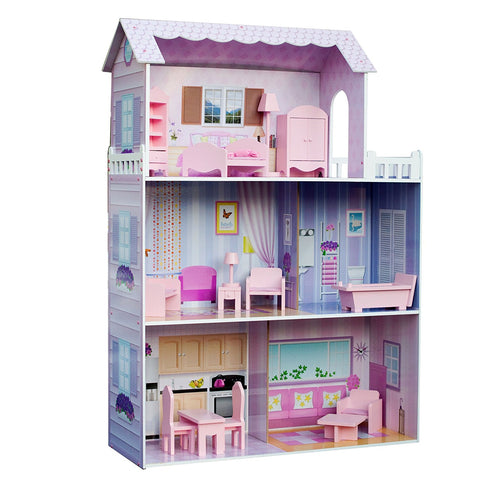 "Teamson KYD-10922A Teamson Kids - Dreamland Tiffany 12"" Doll House -""Pink"