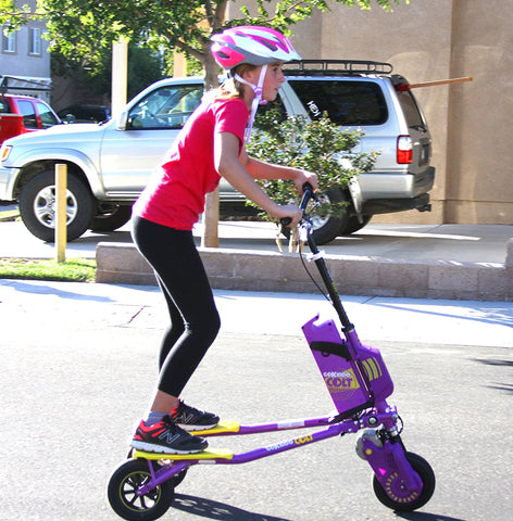 Go-Kiddo GK-T6H-PP GK Colt Electric Carving Scooter - Purple