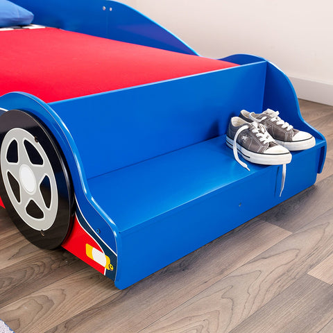 KidKraft 76040 Racecar Toddler Bed