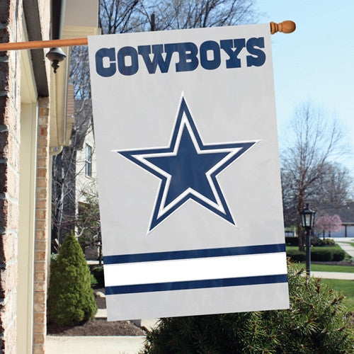 The Party Animal, Inc. AFDA-2 Dallas CowboysAppliqué Banner Flag Star Design