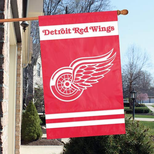 The Party Animal, Inc. AFRED Detroit Red Wings Appliqué Banner Flag