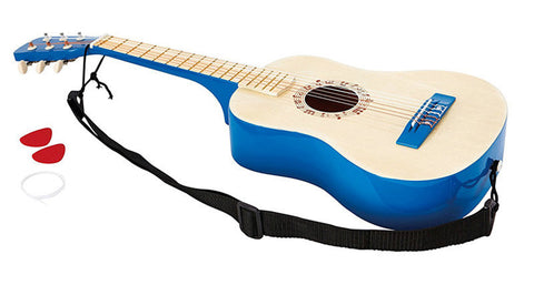 Hape Vibrant Blue Guitar E0326 Early Melodies