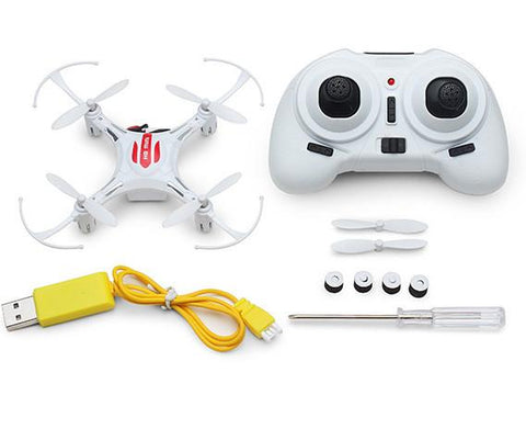 Merske MK10004 Eachine H8 Mini Headless Mode 2.4G 4CH 6 Axis Quadcopter RTF RC Helicopter - White - Peazz.com - 2