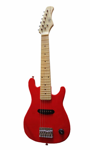 "Berry Toys MKAGT30-ST3-RD 30"" Electric Guitar Set with 5W Amplifier, Cable, Strap, Picks - Red"