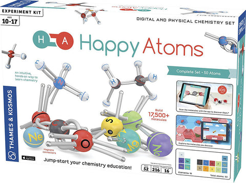Thames & Kosmos 585001 Happy Atoms Complete Set (50 Atoms)
