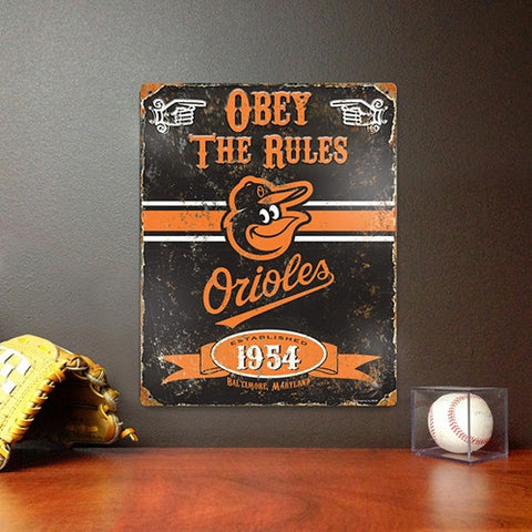 The Party Animal, Inc. VSBAL Baltimore Orioles Embossed Metal Sign - Peazz Toys