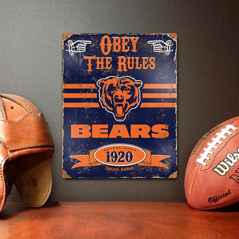 The Party Animal, Inc. VSCH Chicago Bears Embossed Metal Sign - Peazz Toys