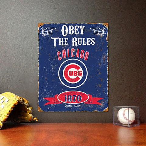 The Party Animal, Inc. VSCUB Chicago Cubs Embossed Metal Sign - Peazz Toys