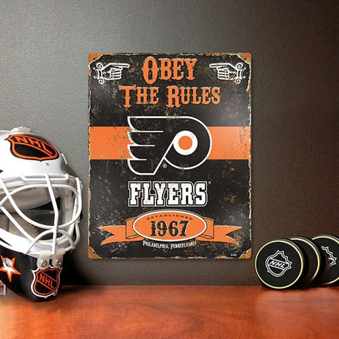 The Party Animal, Inc. VSFLY Philadelphia Flyers Embossed Metal Sign - Peazz Toys