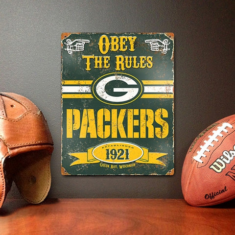 The Party Animal, Inc. VSGB Green Bay Packers Embossed Metal Sign - Peazz Toys