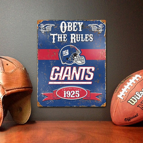 The Party Animal, Inc. VSGI New York Giants Embossed Metal Sign - Peazz Toys